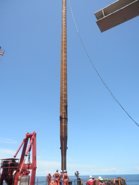 24in PLEM Piles And Scour Mitigation Pile Support Installation  Using OCS Chaser Pile Spread